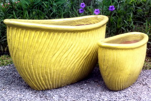 SWIRL OVAL BOAT YELLOW