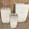 Tall Quad Planter White