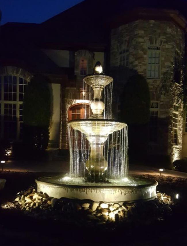 Massarelli Hampton Fountain installation