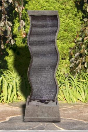 "61"" Curved Water Wall Fountain"