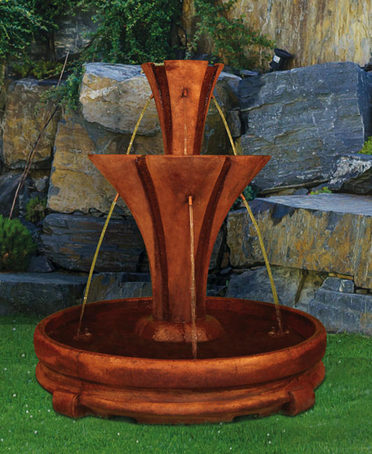 Flare Fountain with Rondo Pool
