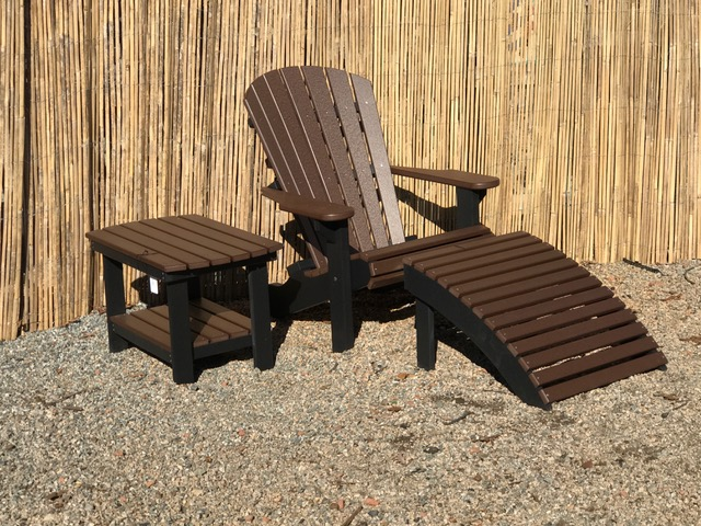 Adirondack Chair Ottoman W Large End Table