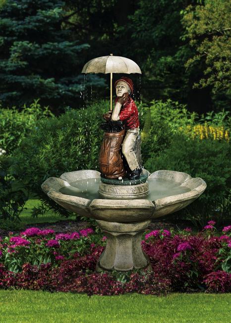 Golfer fountain by Henri Studio (manufacturer photo)
