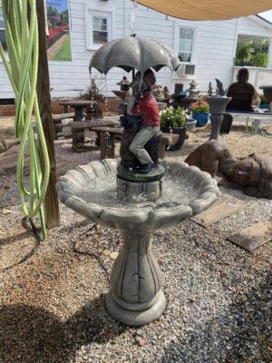 Golfer fountain by Henri Studio (shown at White House Gardens)