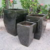 Tall Quad Planter GREEN