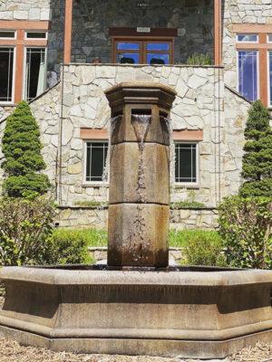 Volterra Hex fountain by Massarelli