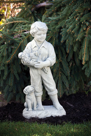 children statuary boy girl