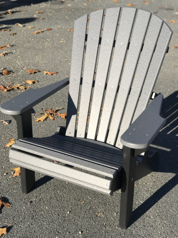 Adirondack Chair - Gray with Black Legs