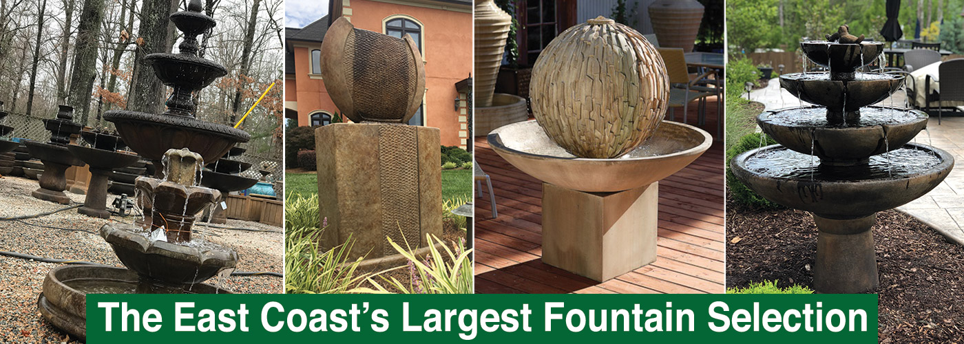 charlotte nc outdoor fountain store