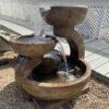 Zen Three-Bowl fountain by Henri Studio (shown at White House Gardens)
