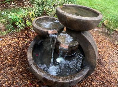 Zen Three-Bowl fountain by Henri Studio